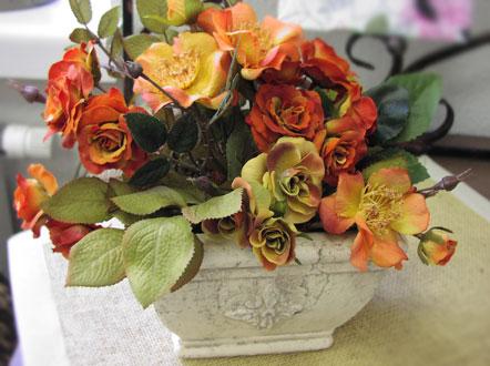 Оформление дома живыми цветами